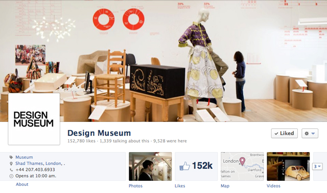 design museum cover image - Judge Facebook by its Cover Photo