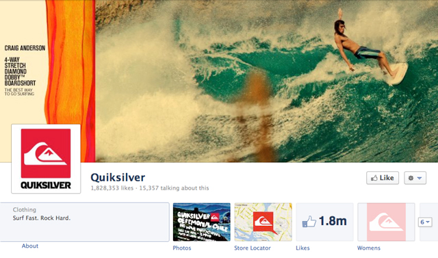 quicksilver cover image - Judge Facebook by its Cover Photo