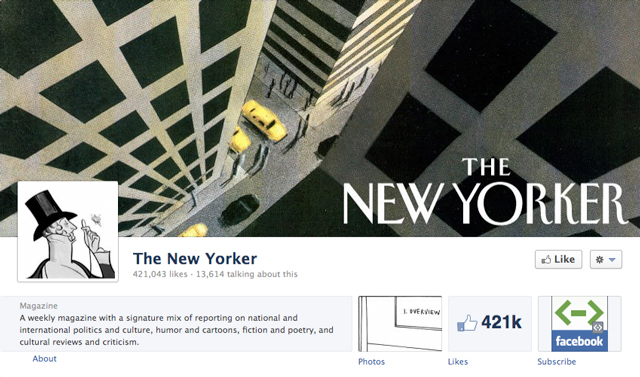 the new yorker cover image - Judge Facebook by its Cover Photo