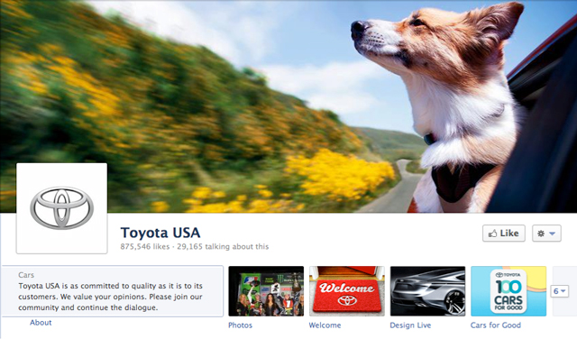 toyota cover image - Judge Facebook by its Cover Photo